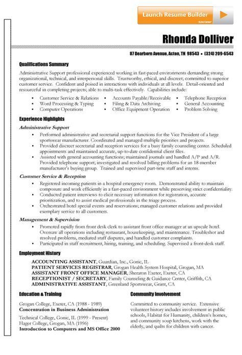 Functional Resume Example Pinterest Functional resume, Resume - waitress resume
