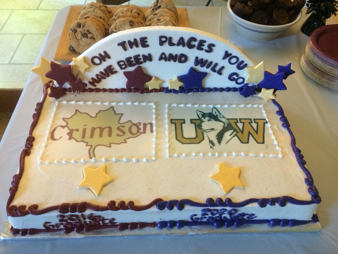 Transition Graduation Cake From Highschool To College Letter Ombr
