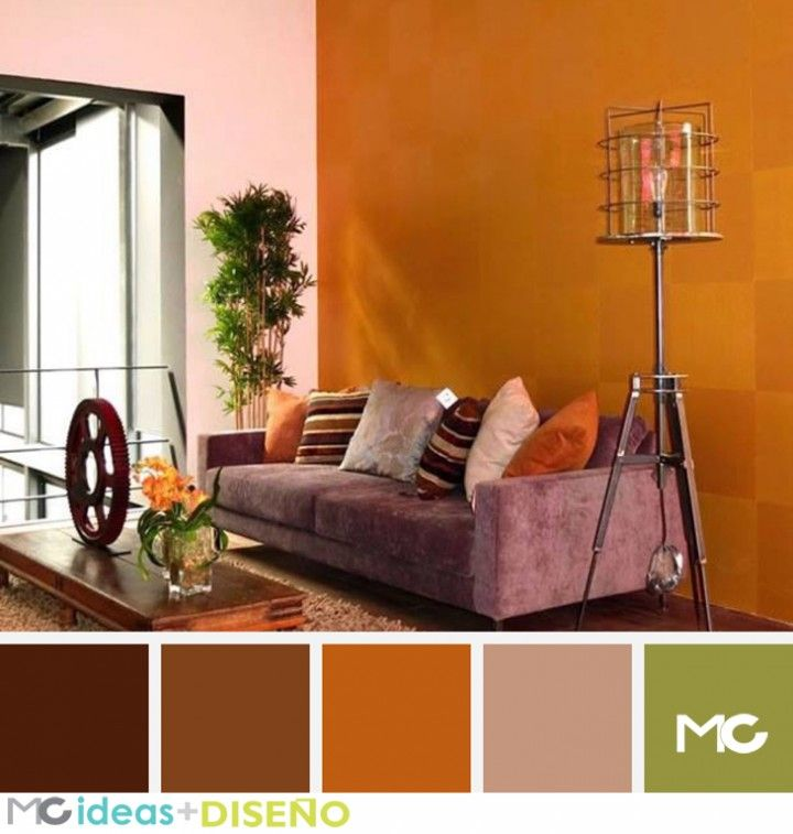 Ideas sala chocolate paletas de colores color palettes for Pintura interior verde