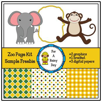 This zoo cover page kit sample freebie is perfect for all kinds of - sample cover page