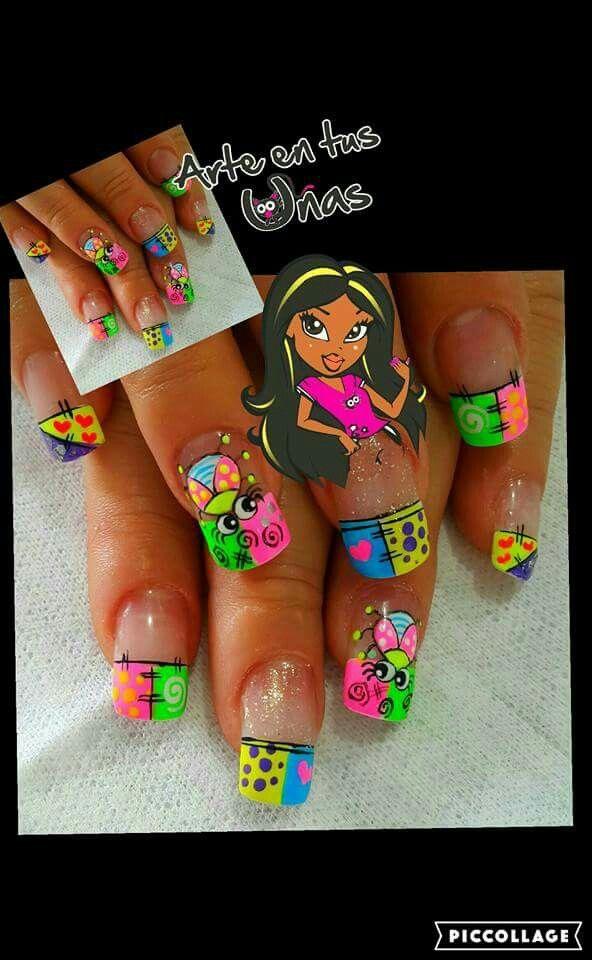 Arte en tus uñas #AndryRegiino | Dibujos y caricaturas nails ...