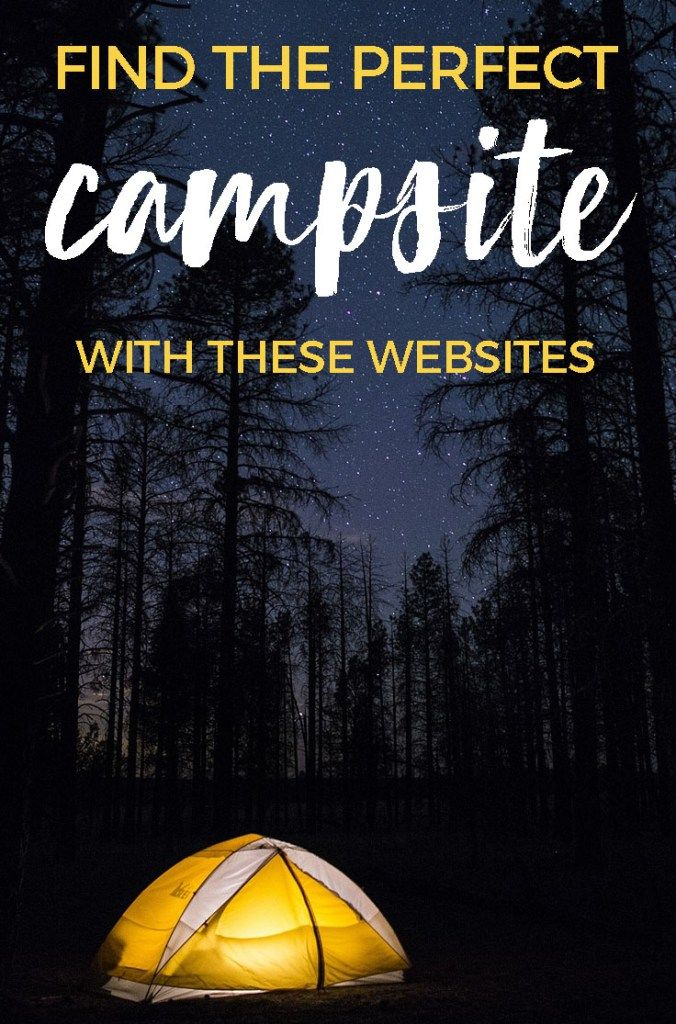 Find the Perfect Campsite with these Websites including photos & reviews #camping #campsites #hipcamp #campendium