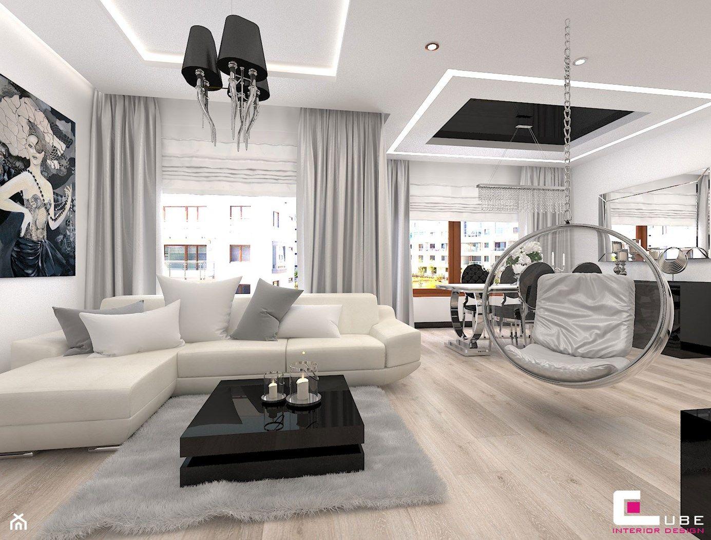 Wystroj Wnetrz Salon Pomysly Na Aranzacje Projekty Ktore Stanowia Pr Stairs In Living Room Living Room And Dining Room Design Interior Design Living Room