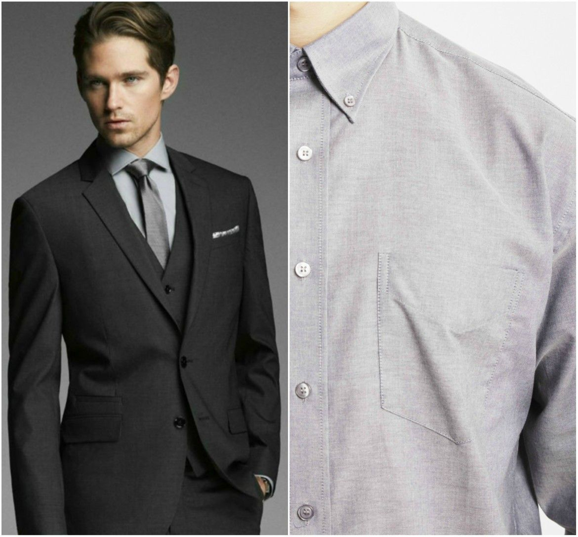 shirt matching with grey suit