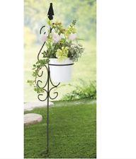 Wrought Iron Metal Stake Garden Plant Pot Holder Flower Planter