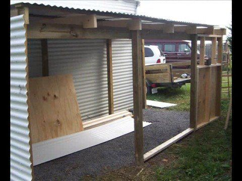 Add a lean to onto a shed outdoor structures outdoor for Lean to addition to garage