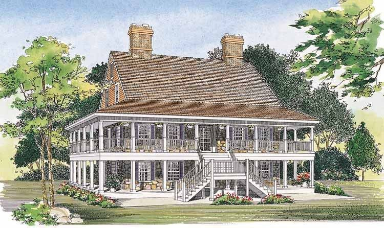 Country House Plan With 2240 Square Feet And 3 Bedrooms S From Dream Home Source House Plan Porch House Plans Country Style House Plans Country House Plans