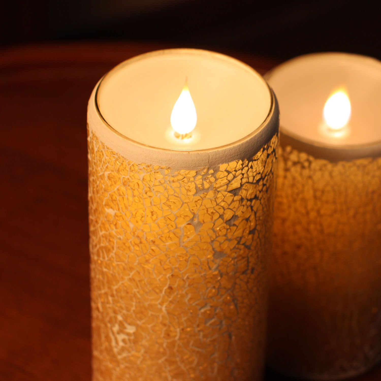 Multi Wick Candles Simplux Moving Wick Flameless Mosaic Led Candle With Remote