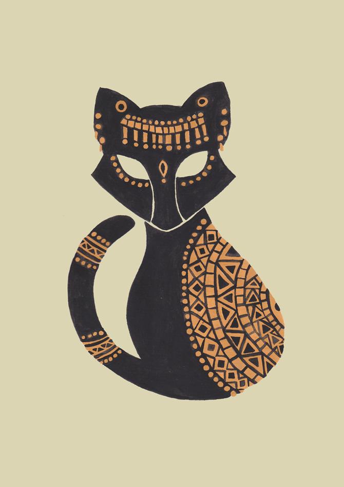 The Egyptian Cat Illustration by Haidi Shabrina Egyptian
