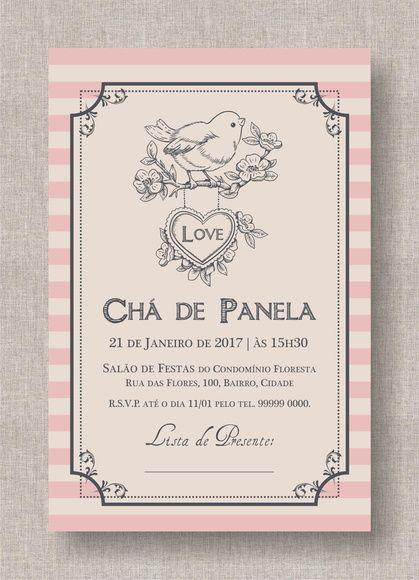 8df810bff5ba13 Convite Digital Chá Panela/Lingerie 11 | Chás em 2019 | Convites ...