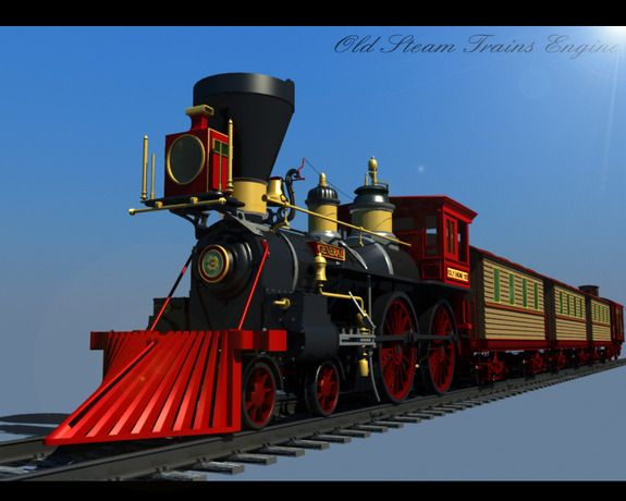 Old Steam Trains Engine 3d Model Old Steam Train Train Steam Engine Model