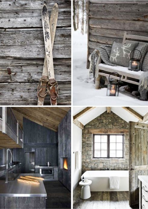 Chalet rustico chic mountain chalet ski lodge decor for Arredamento chalet legno