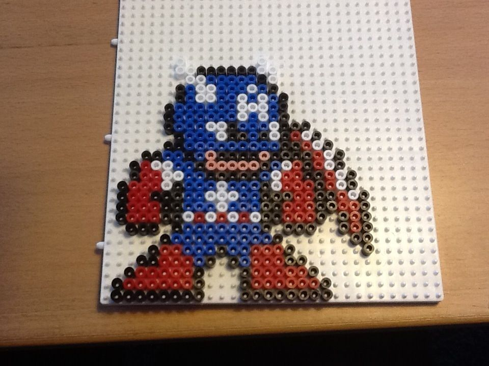 Captain America hama beads by ilhja