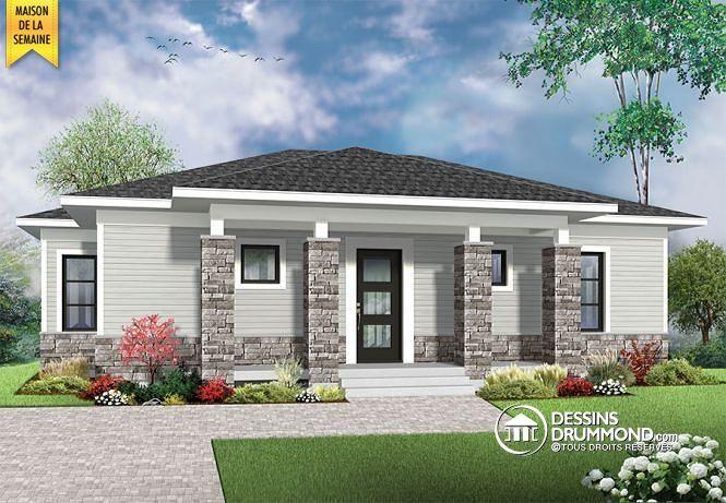 plain pied contemporain economique avec module noyo integre aire ouverte http www dessinsdrummond com detail plan de maison info 1003153 html