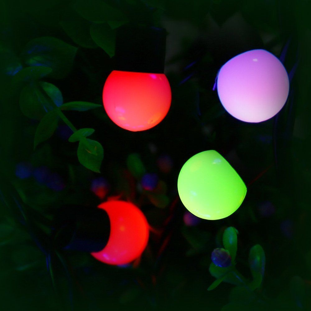 Halloween Decorations 50 Led 17 7ft Rgb Globe Christmas Lights 7 Color Changing Fairy Lights For Indoor And With Images Christmas Lights Christmas Decorations Fairy Lights