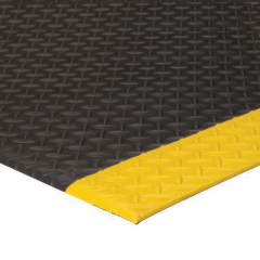 Diamond Deluxe Soft Foot 2x3 Feet Black Yellow Rubber Mat Soft Feet Rubber