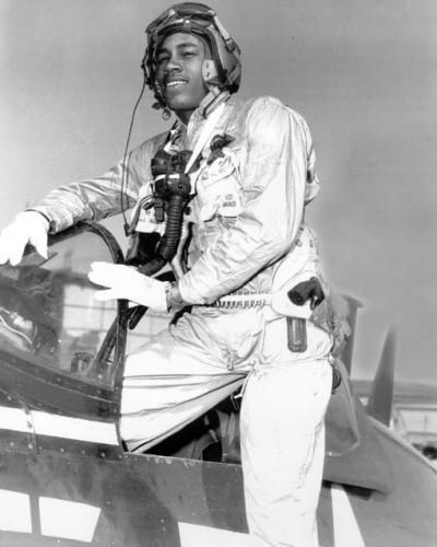 Frank E. Petersen Jr. was the first African-American Marine Corps aviator. On February 23, 1979 he became the first African-American Marine Corps general.