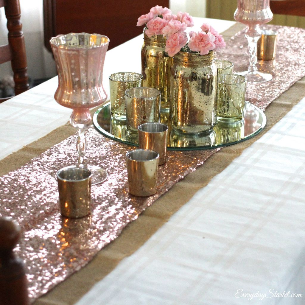 Glamorous Pink And Gold Valentineu0027s Day Tablescape