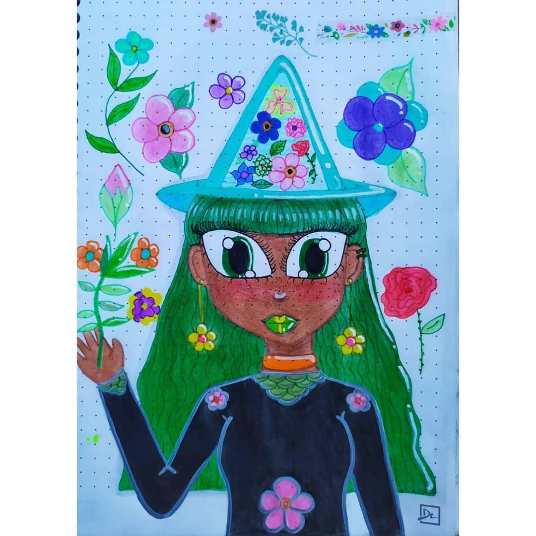 Una brujita inspirada en los stickers de la parte de arriba 💕 . . . . . . . . . . . . . . . . . . . . ♡♡♡tags♡♡♡ #drawing #dibujo #drawingoftheday #sketchbook #traditionalart #traditionaldrawing #traditionalartwork #witch #bruja #flowers #flowerwitch #dibujosanimados #animestyle #sketchoftheday #arte #art #girl #colorpencil #lapicesdecolores #artistsoninstagram #artetradicional #dibujotradicional #traditionalartwork #marcadores #mystyle #witch🔮 #paintingoftheday #originalart #artlover #artist
