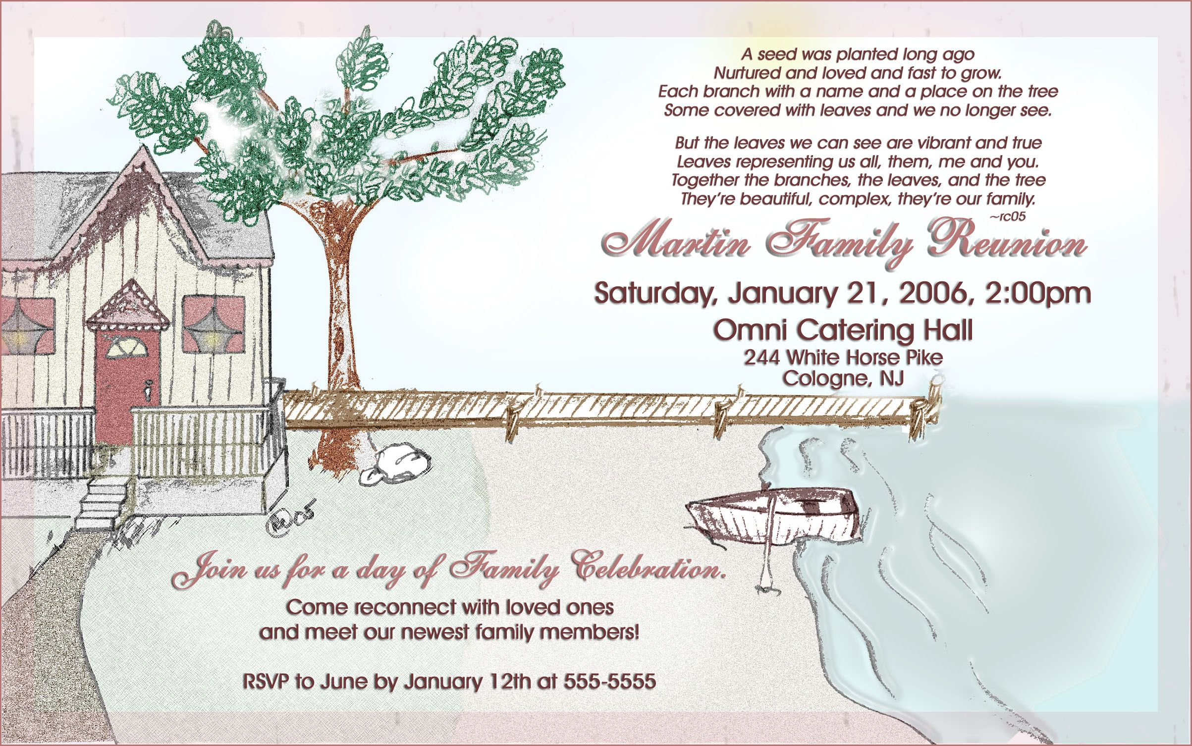 Family Reunion Invitation Template. Family Reunion Invitations ...