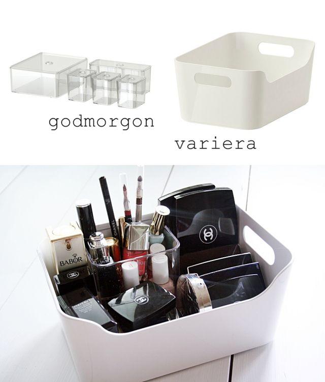 Ikea Variera, Godmorgon, makeup