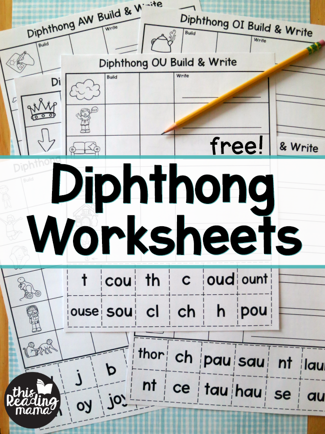 Diphthong Worksheets - Build & Write | Kind