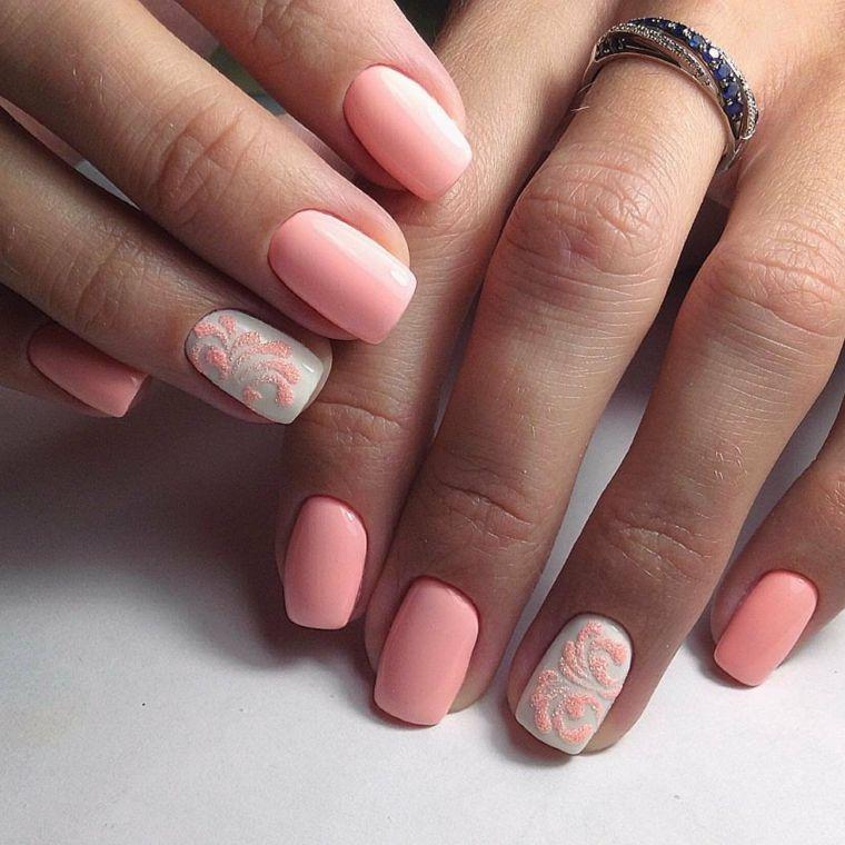 1001 + Idee per Unghie gel rosa con decorazioni en 2020 ...