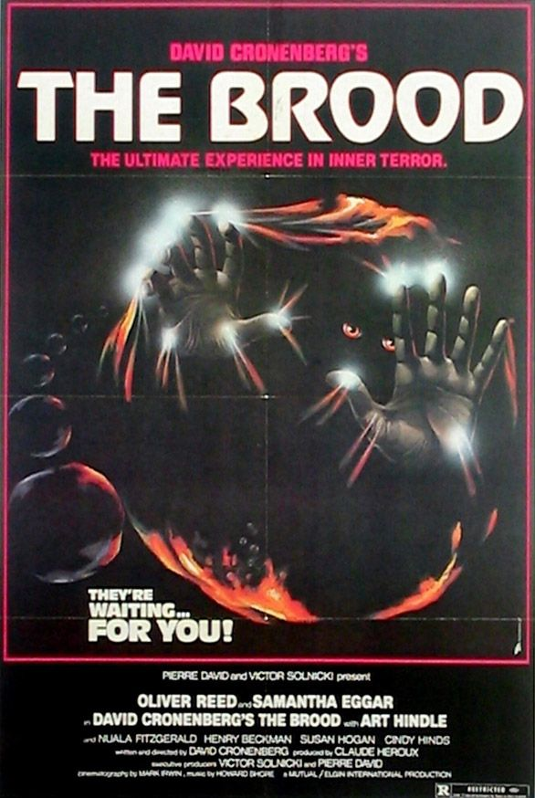 1970's horror movies | The Brood movie poster | 70's Monster