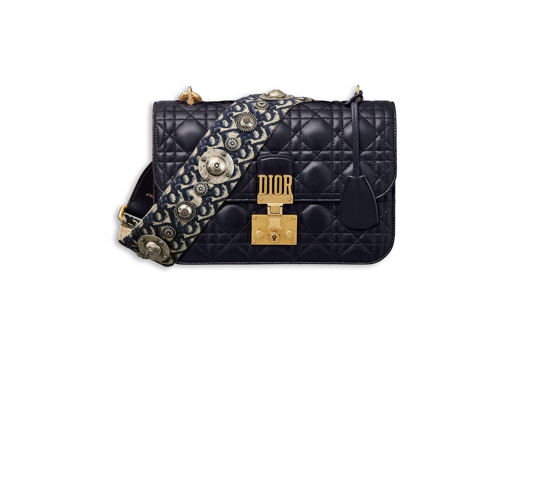 e269eb20dd36 Dioraddict flap bag in blue cannage lambskin with dior oblique shoulder  strap - Dior Dior  Shades