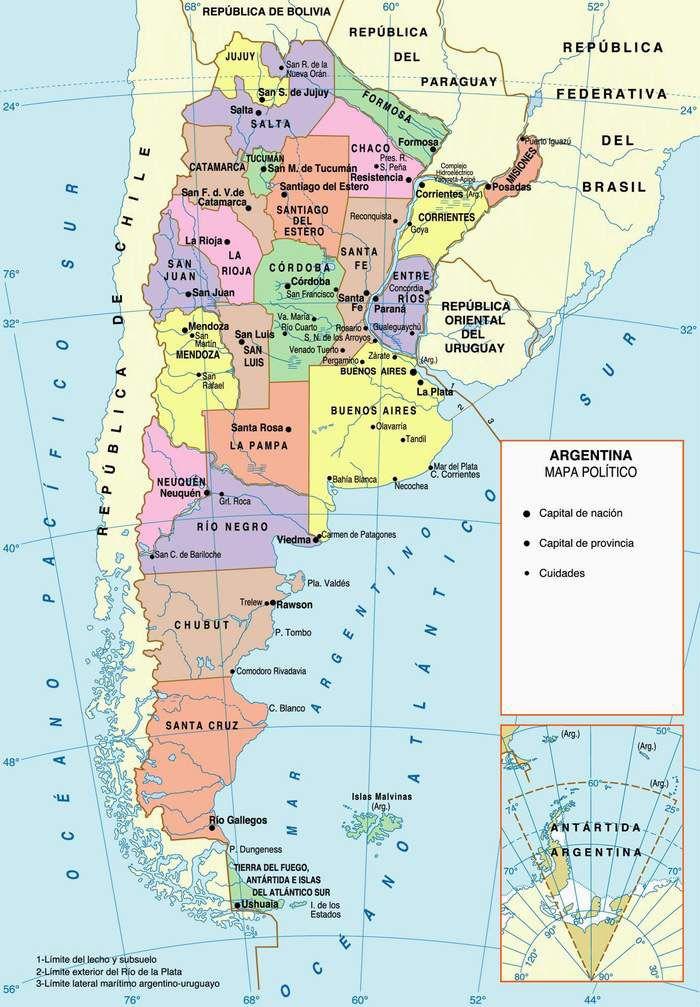 Mapas de Argentina • El Sur del Sur | diario de viaje | Pinterest
