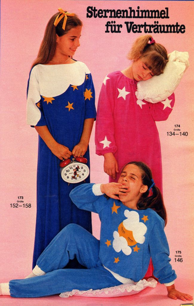 süße Nachthemden, zum selbst nähen, 80er Jahre | Nachthemden ...