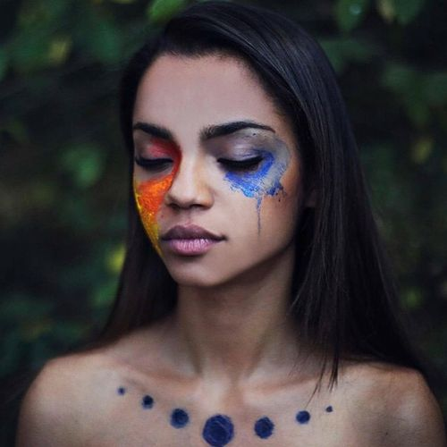 Girl Grunge And Indie Afbeelding Portrait Photography Portrait Paint Photography