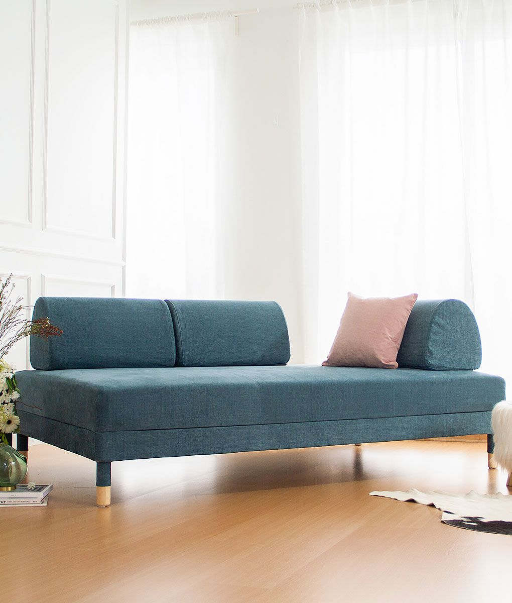 IKEA Flottebo Sofa Covers Madison Teal Cotton Blends Couch