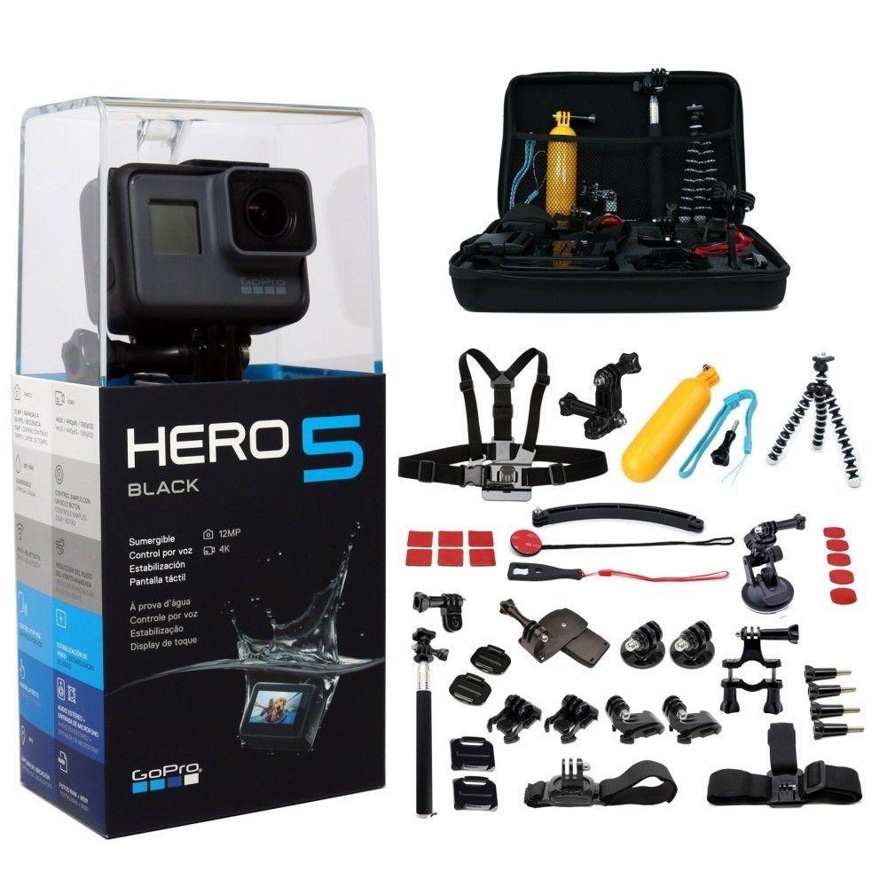 Deal Gopro Hero5 Black Edition 2 Extra Batteries Charger Camera Camcorder Gopro Importedmodel Gopro Action Camera Gopro Hero 5