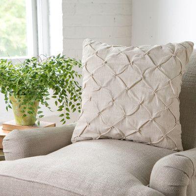 Birch Lane Alda Pintucked Pillow Cover & Reviews   Wayfair