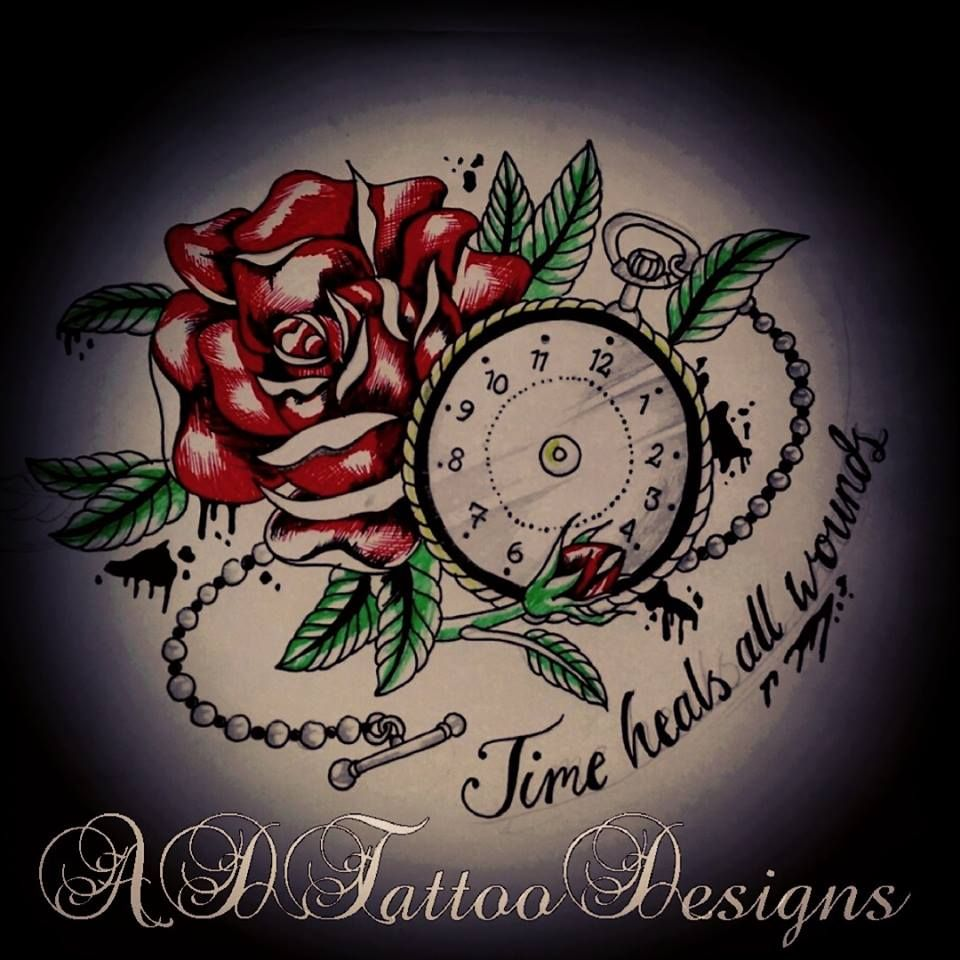 Tattoo Designs Time: Time Heals All Wounds. If Anyone Is Interested In Having A