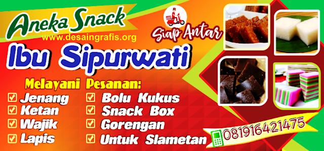 Desain Banner Toko Aneka Snack Makanan Ringan cdr
