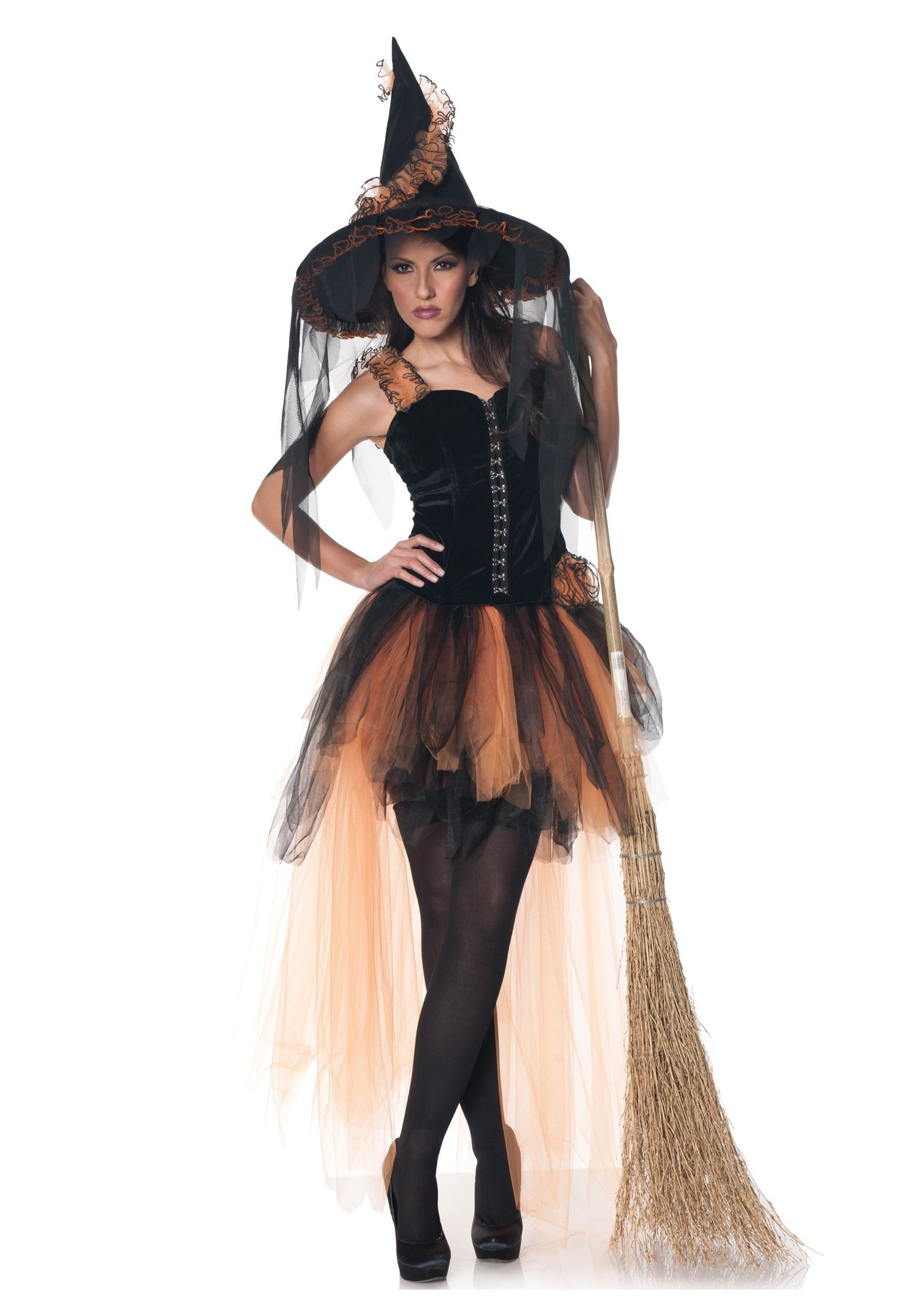 Hallow's Eve Women's Orange & Black Witch Costume | Witch costumes ...
