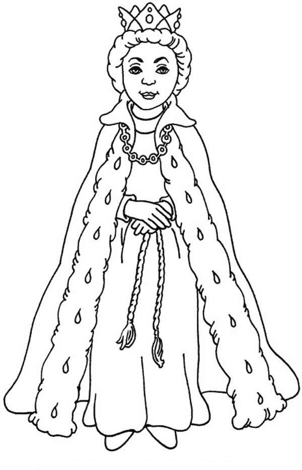 Queen Esther With Her Beautiful Gown Coloring Page Kids Play Color In 2021 Princess Coloring Queen Drawing Coloring Pages