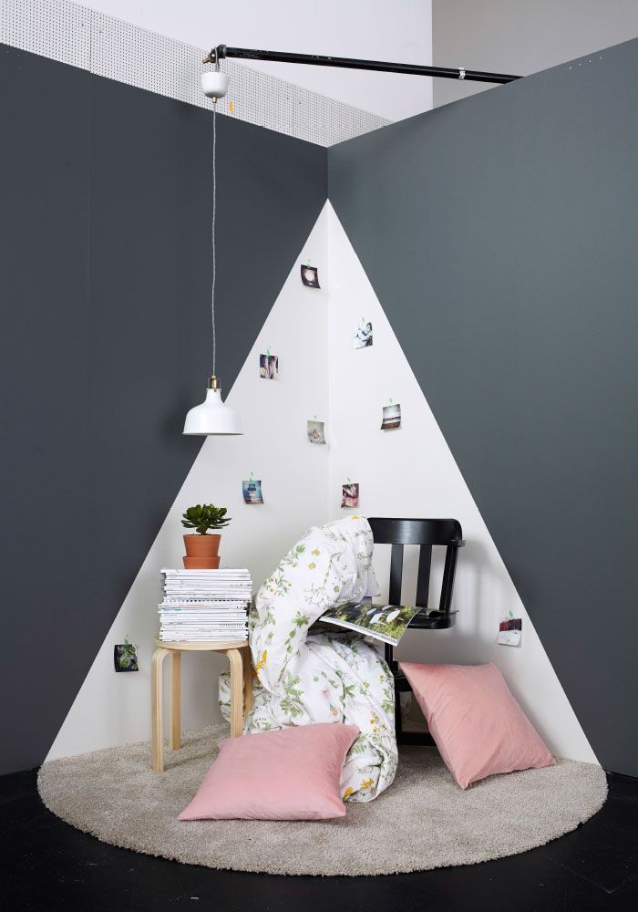 Angle d\u0027une pièce et coin lecture aménagement maison Pinterest