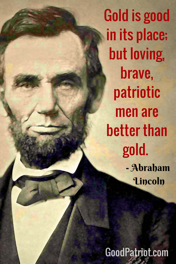Abraham Lincoln Quotes Patriotic Men Military America Usa