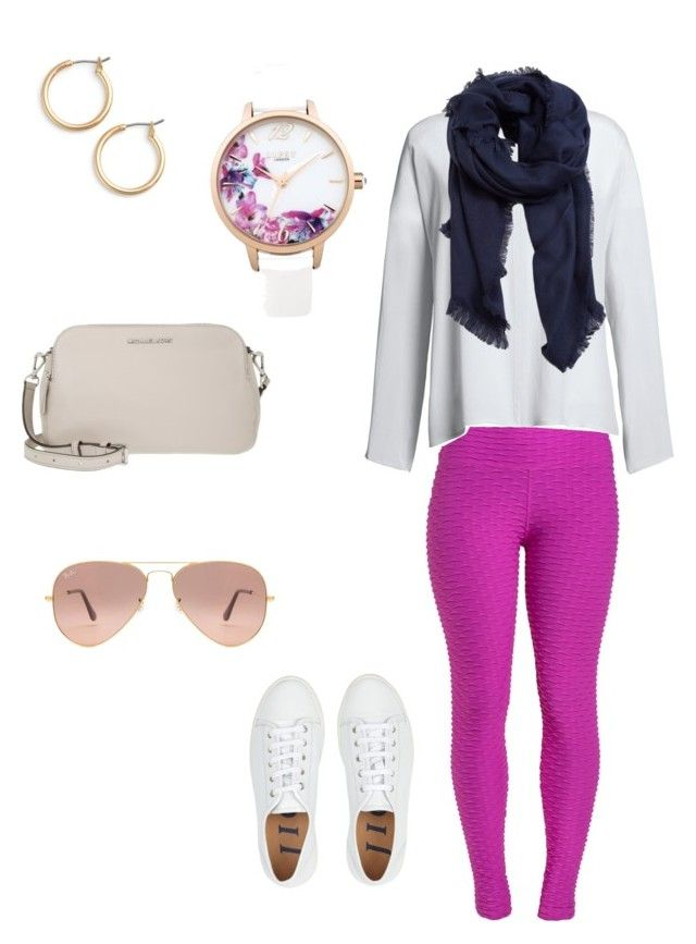 """Untitled #3"" by bbrazilbbold on Polyvore featuring Canvas by Lands' End, MICHAEL Michael Kors, MANGO, Ray-Ban, Lipsy and Nordstrom"