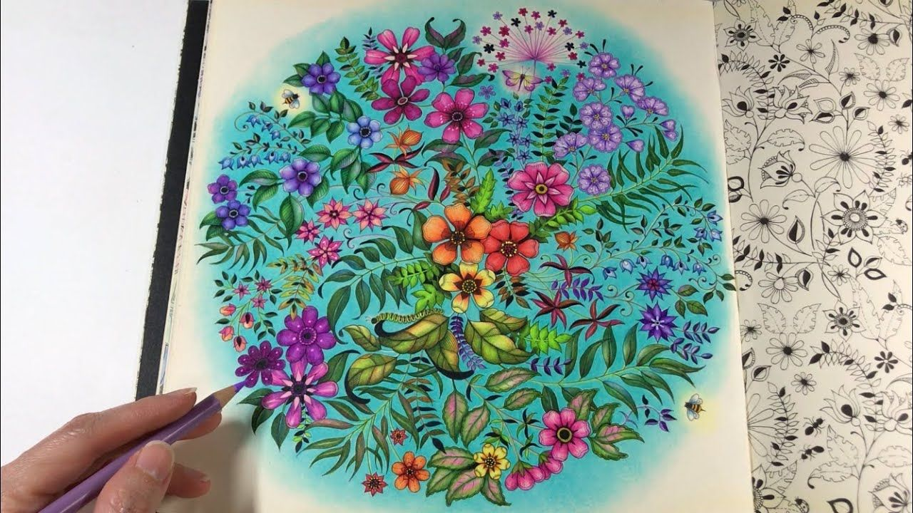 Step By Step Coloring Secret Garden Flowers Coloring Chris Cheng Secret Garden Colouring Secret Garden Coloring Book Secret Garden Coloring Book Finished