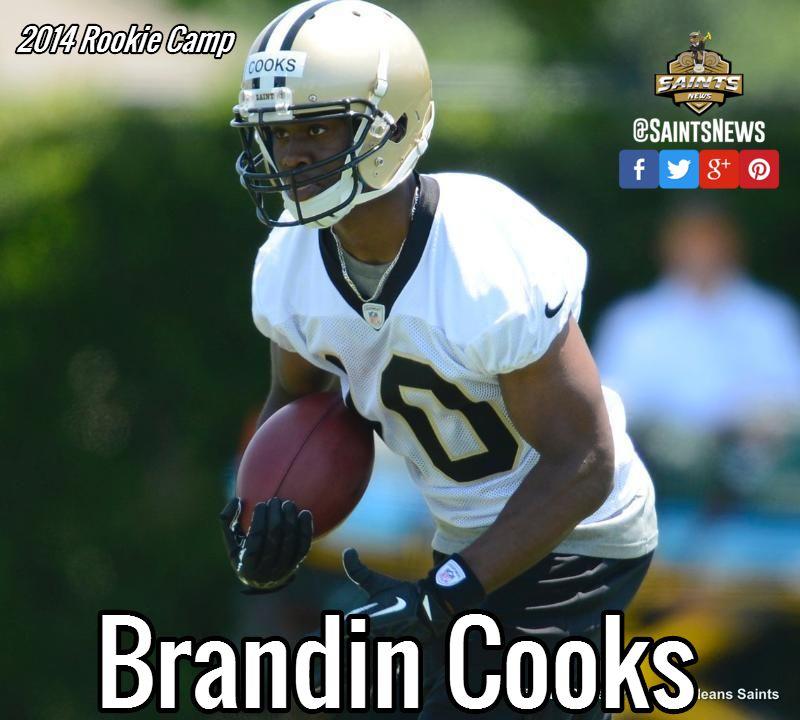 Brandin cooks 2014 saints rookie camp saints saints