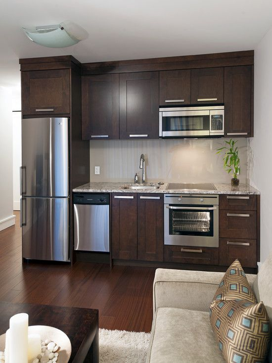 Love This But Wine Fridge Instead Of Stove And Dishwasher Kitchen Design Small Basement Kitchenette Contemporary Kitchen