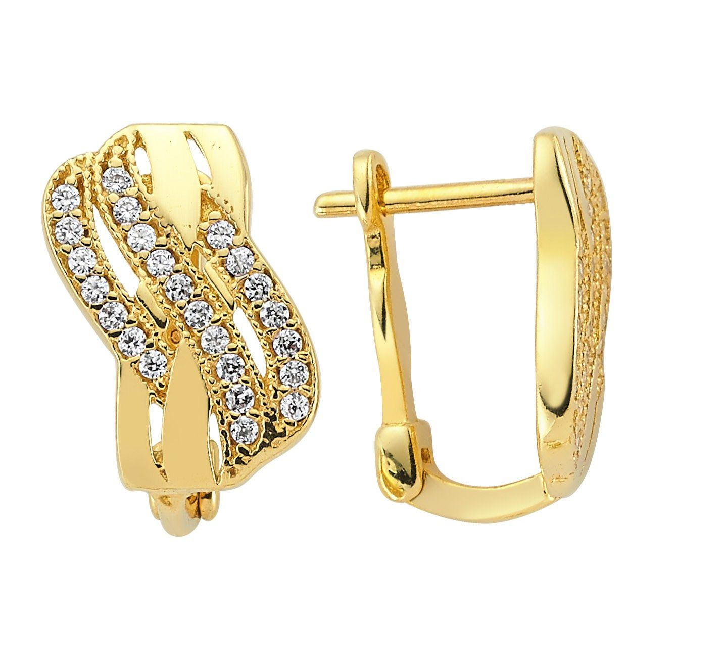 15 Fashion Gold Earring Designs | Gold earrings designs, Gold and ...
