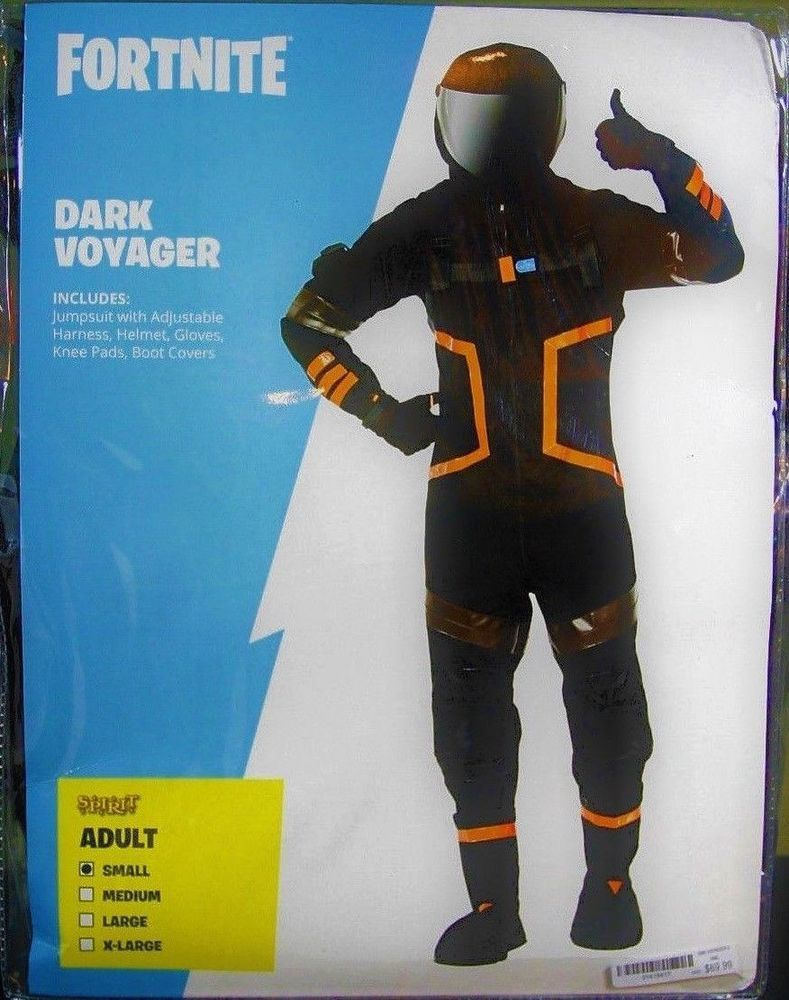 new adult dark voyager fortnite halloween costume skin mens size small s