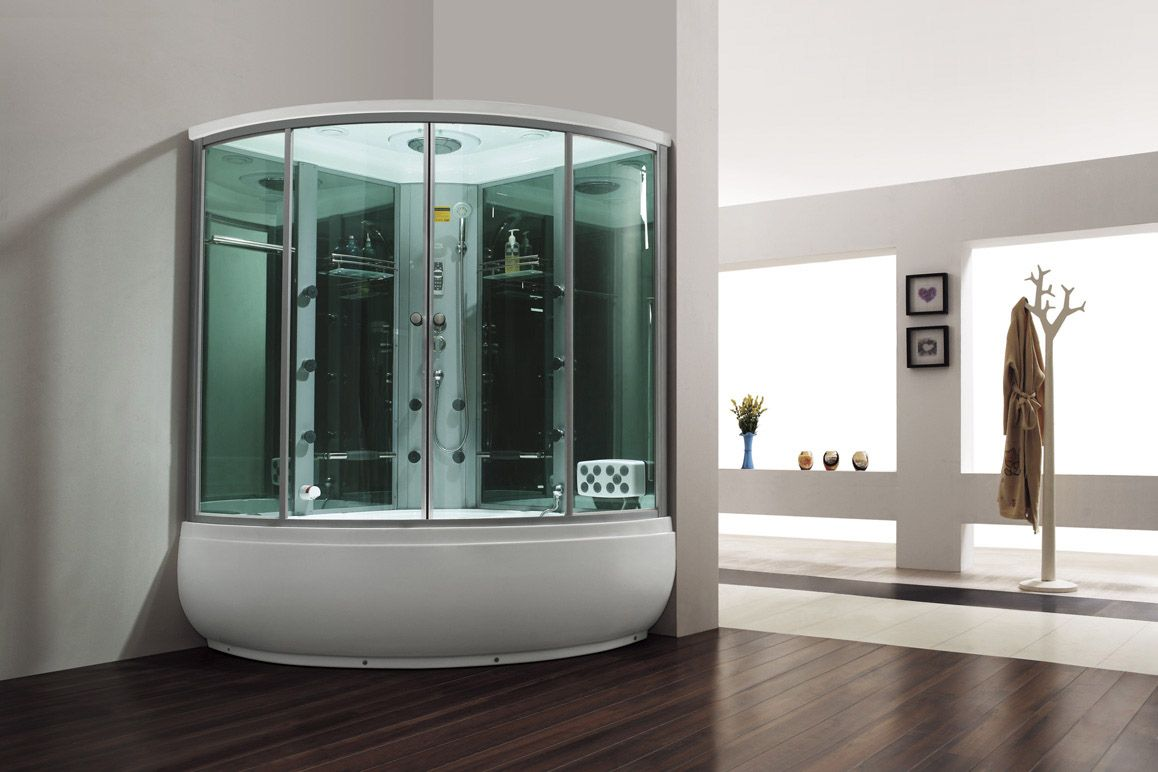 Monalisa M-8272 combined steam room with bathtub foot massager ...