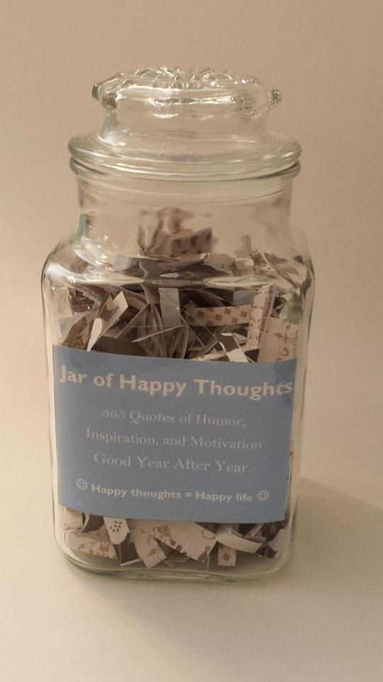 Quotes Jar Entrancing Jar Of Happy Thoughts  $26  365 Quotes Of Humor Inspiration