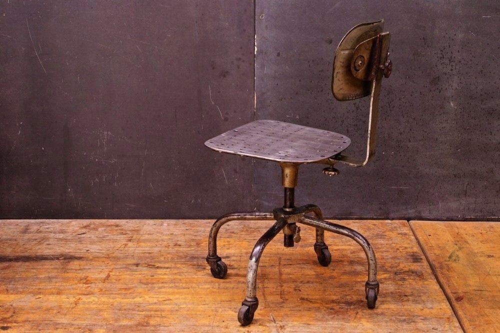 Vintageindustrialofficechair Industrial Adjustable Victorian Tavintage Antique Machine 1stdi In 2020 Vintage Office Chair Metal Chairs Industrial Office Chairs